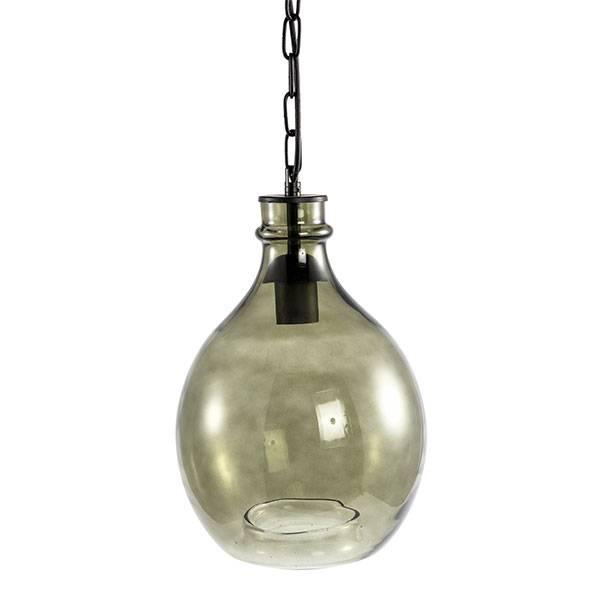 PTMD Collection Hanglamp Chett Groen Ø23,5xH31 cm