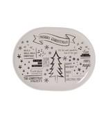Riverdale Witte Serveerschaal Kerst - 30x23 cm