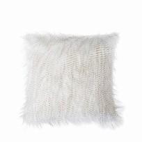 Kussen Feather Wit/Bruin - 50xH50 cm