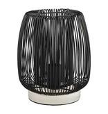PTMD Collection Tafellamp Arkk Zwart - Ø20xH24 cm