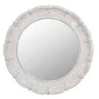 Ronde Houten Wandspiegel - Ø84 cm
