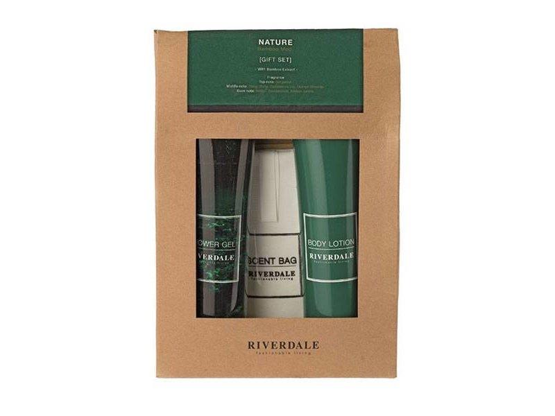 Riverdale Cadeauset Nature - 16x4,5xH21,5 cm