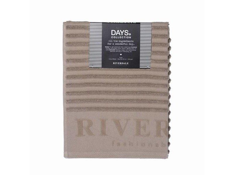 Riverdale Handdoek Days Beige - 50x100 cm