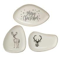 Wittte Bordjes Kerst - Set van 3 stuks