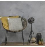 GeWoon Sierkussen Stonewash Mosterdgeel - 60xH60 cm
