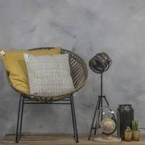 Sierkussen Stonewash Mosterdgeel - 60xH60 cm