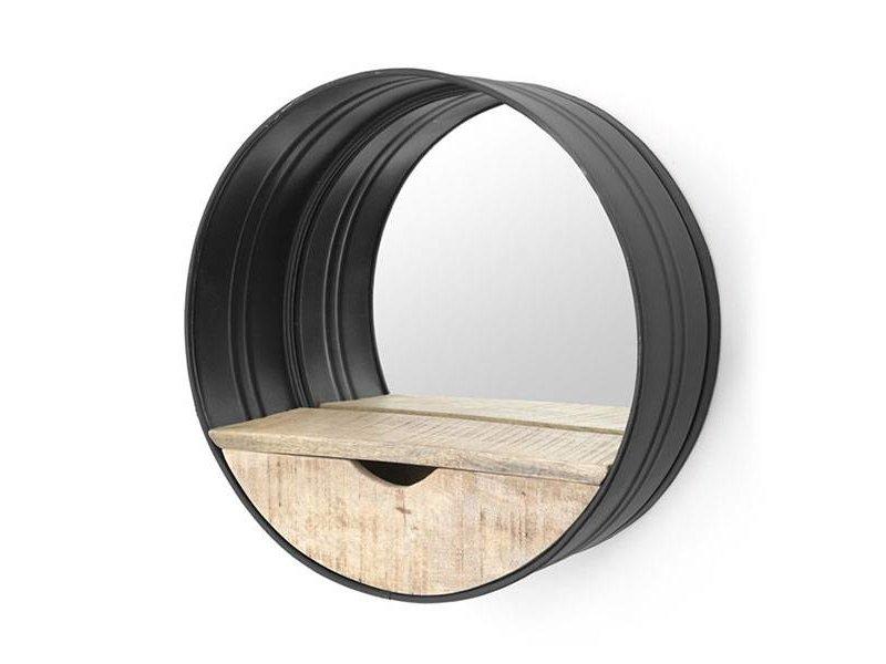 By-Boo Metalen Wandspiegel Rond - Ø40 cm