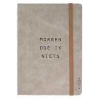 Notitieboek van Leer - Morgen doe ik niets