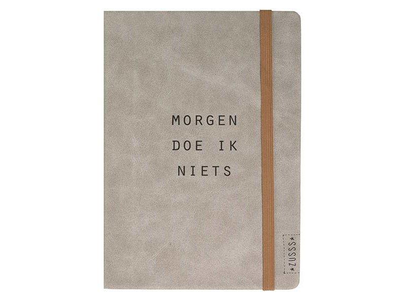 Zusss Notitieboek van Leer - Morgen doe ik niets