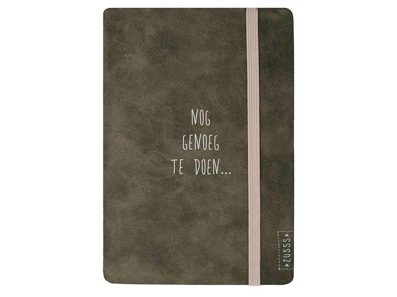 Zusss Notitieboek van Leer - Nog genoeg te doen