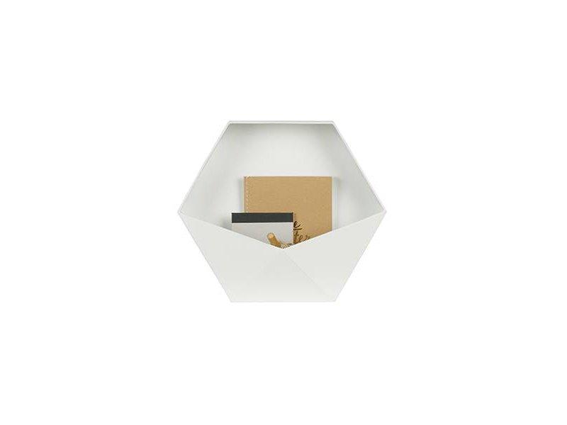 Woood Wit metalen Wanddeco Puck L - 35x15,5xH30,5 cm
