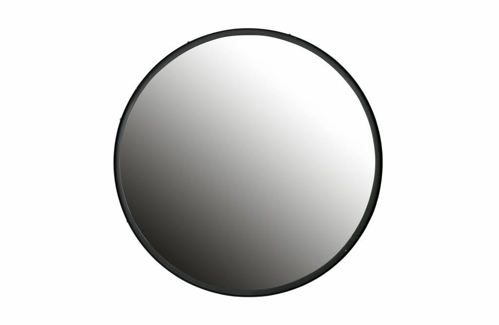 Spiegel Zwart Metaal : Zwart metalen spiegel lauren Ø cm gewoonknus