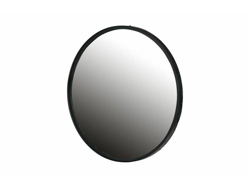 Woood Zwart metalen spiegel Lauren - Ø80 cm