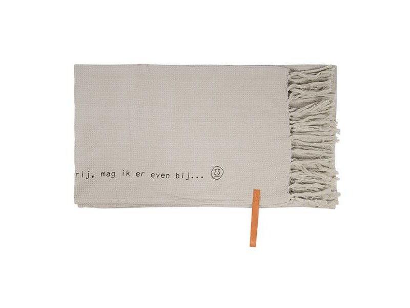 Zusss Plaid Gewafeld Kleigrijs - 130x170 cm