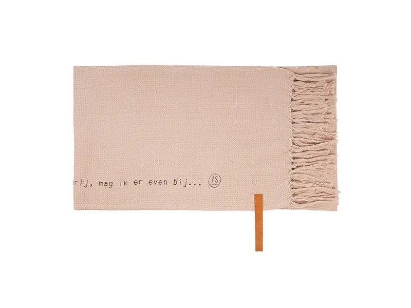 Zusss Plaid Gewafeld Poederroze - 130x170 cm
