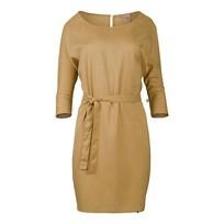 Sjiek jurkje met ceintuur oker - L/XL