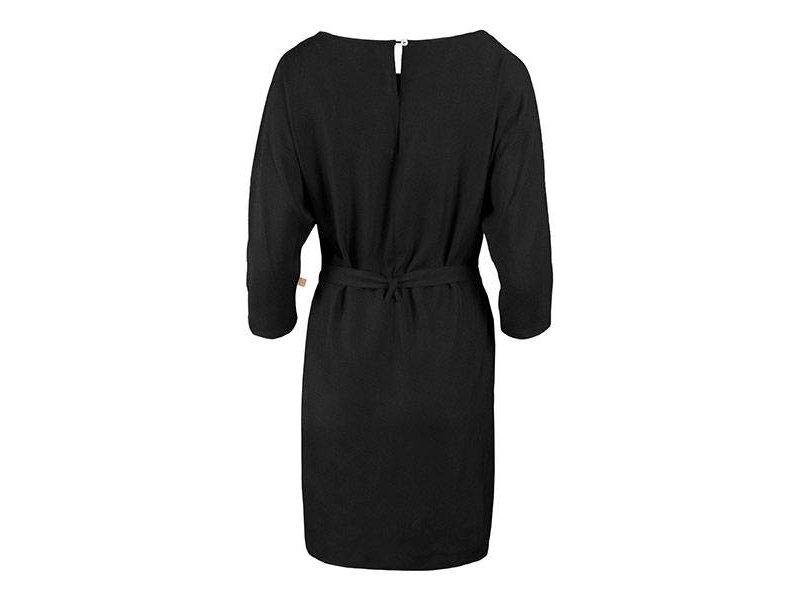 Zusss Sjiek jurkje met ceintuur zwart - L/XL