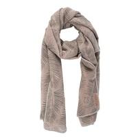 Sjaal met blad poederroze