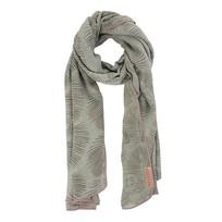 Sjaal met blad zeegroen