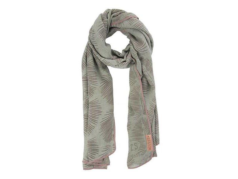Zusss Sjaal met blad zeegroen