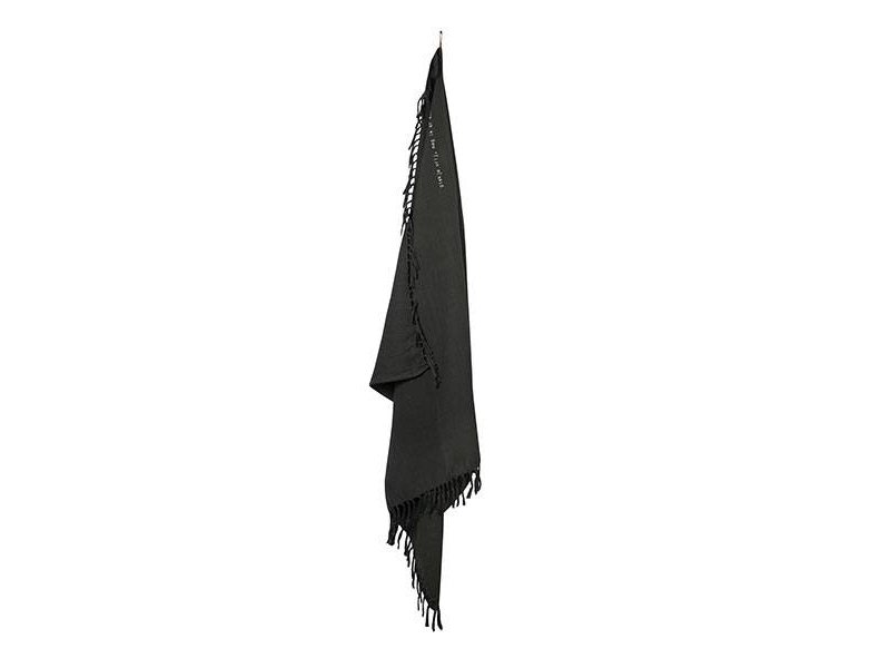 Zusss Plaid Gewafeld Off Black - 130x170 cm