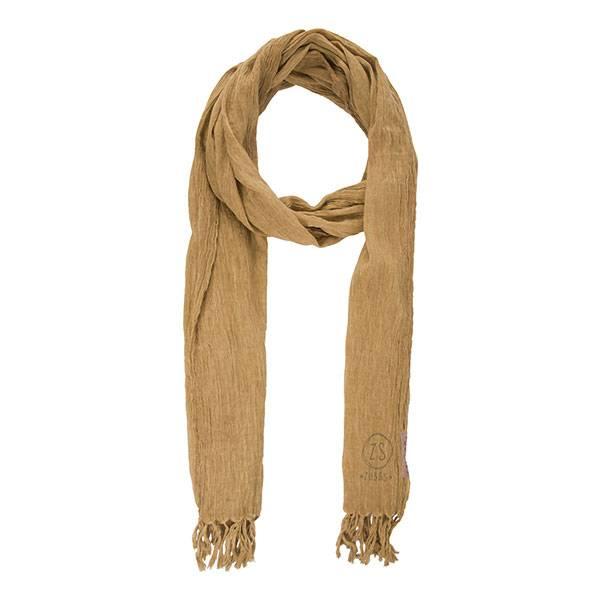 Zusss Nonchalante sjaal met franje oker