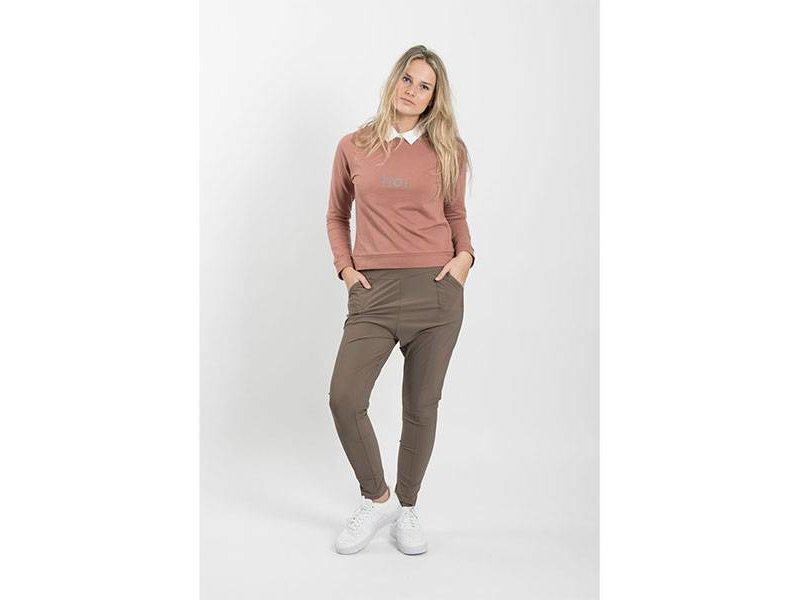 Zusss Makkelijke broek leemgroen - L/XL