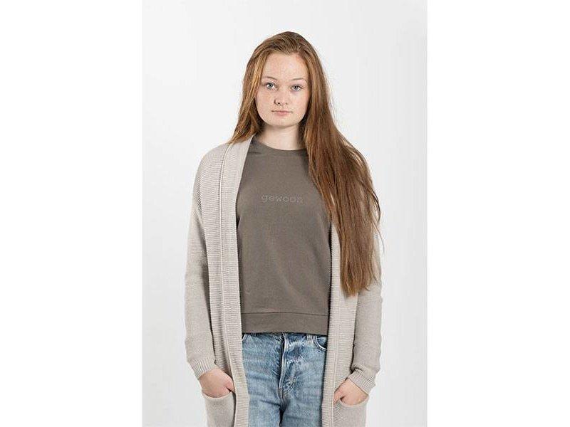 Zusss Stoere trui gewoon leemgroen - L/XL