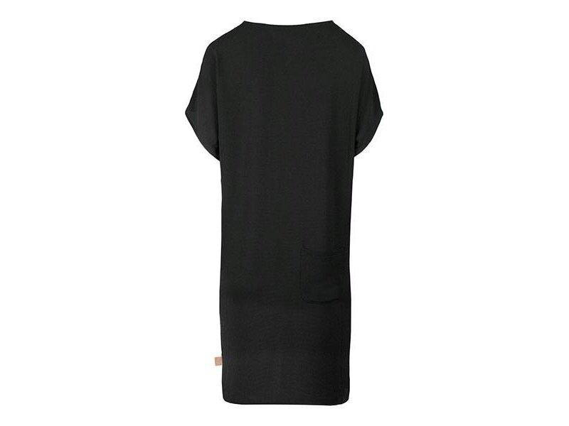 Zusss Luchtig zomerjurkje zwart - L/XL