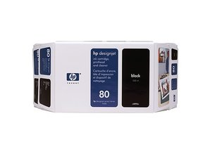 Tinte HP No.80 - schwarz C4871a