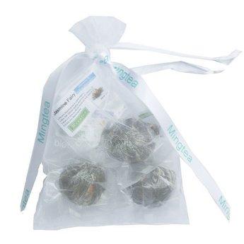 3 Teeblumen in einem schönen Organzasäckchen