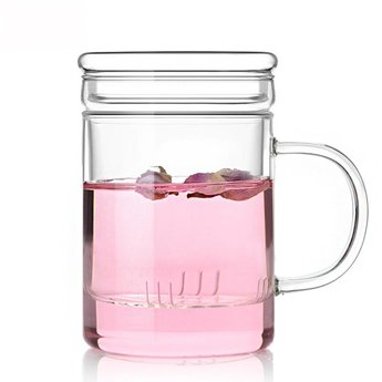 Grosses Teeglas und Filter 450 ml