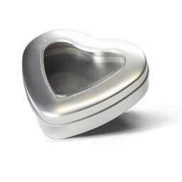 Boîte en forme de coeur avec fenêtre