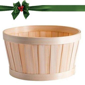 Emballage cadeau: Panier rond en Bambou + carte