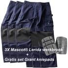 Mascot® Set 1 Lerida Werkbroek met Kevlar® kniezakken