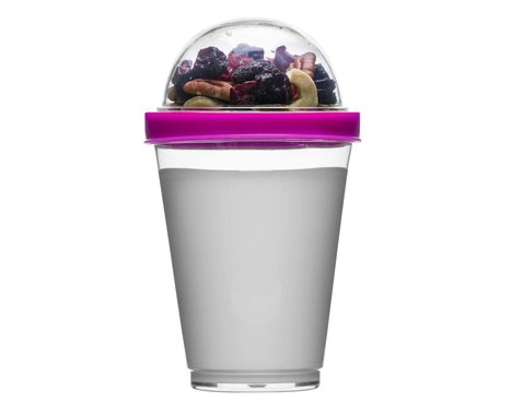 Sagaform Yoghurt to go beker roze