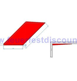 Decken und Wandanschlussplatten Keilplatten 500x300x22/5mm