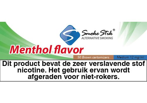 SmokeStik Cartomizer Menthol Bruin 12mg (50)