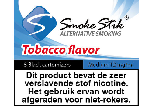 SmokeStik Cartomizer Regular Tabak Zwart 12mg (5)