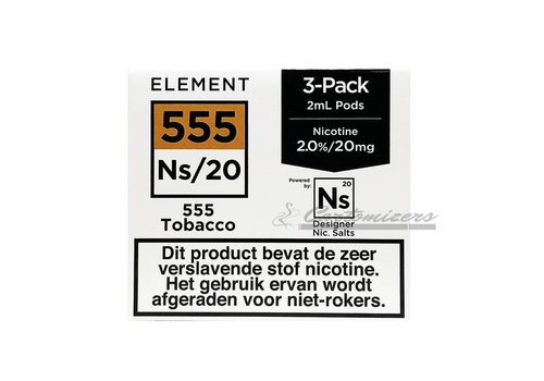 Element 555 Tobacco Ns/20 Pod