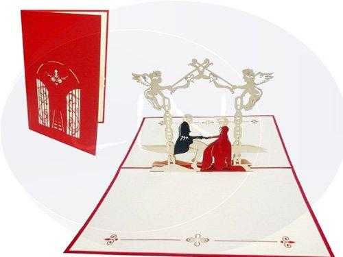 Brautpaar im Schlossgarten (rot)