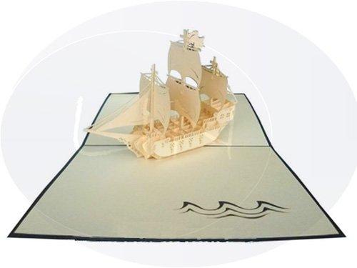 Sailing boat galleon (var.1) (blue)