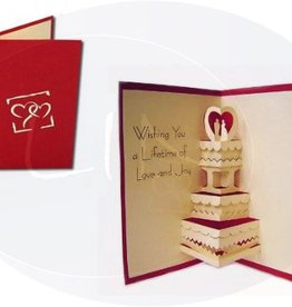 Pop up wedding card, wedding cake (EN)