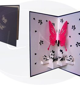 Pop Up Geburtstagskarte, Schmetterling (blau)