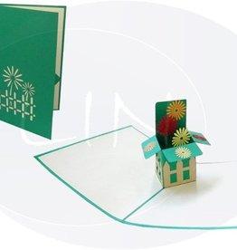 Pop up birthday card, flower box