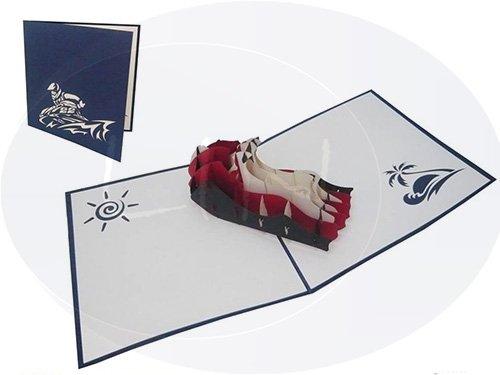 Pop Up Geburtstagskarte, Jetski