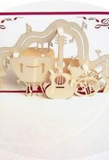 Musikinstrumente Orchester (rot)(Nr.123)