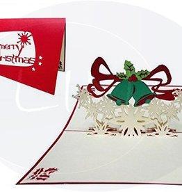Pop up christmas card, christmasbells (var. 1)