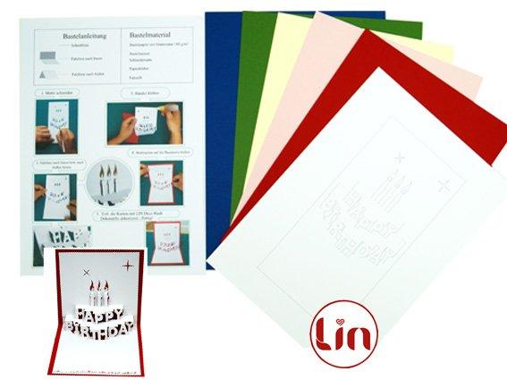 DIY POP UP Geburtstagskarten Bastelset - Pop Up Karten von LIN ...