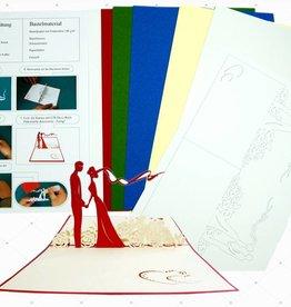 DIY- POP UP Hochzeitskarten Bastelset